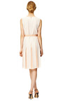 Degrade Stripe Slip Cutout Panelled Dress In Nude by MARC JACOBS Now Available on Moda Operandi