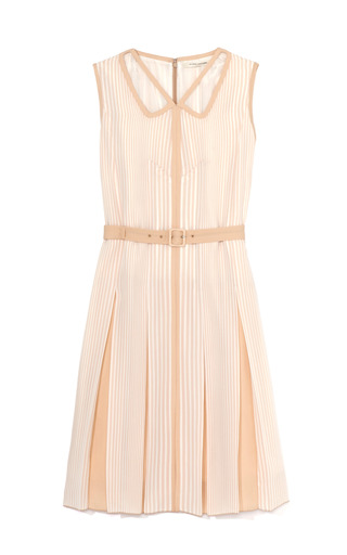Medium marc jacobs nude degrade stripe slip cutout panelled dress in nude