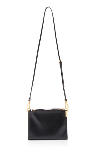 Medium marni black bandoleer shoulder bag