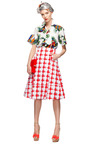 Red Checkered Skirt by MARNI Now Available on Moda Operandi