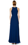 Ink Blue Embroidered Gathered Bodice Gown by MATTHEW WILLIAMSON Now Available on Moda Operandi
