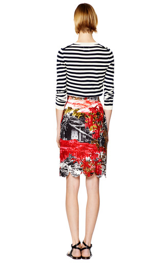 Maressa Cotton Scalloped Edge Skirt by MOTHER OF PEARL Now Available on Moda Operandi