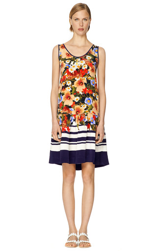 Talora Heavy Crepe De Chine Vest Peplum Dress by MOTHER OF PEARL Now Available on Moda Operandi