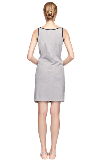 Ebba Silk Crepe & Jersey Silk Fronted Vest Dress by MOTHER OF PEARL Now Available on Moda Operandi