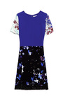 Flowers Print On Crepe De Chine Dress by PETER SOM Now Available on Moda Operandi