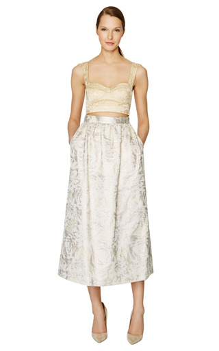 Jacquard Lame Bralette by PETER SOM Now Available on Moda Operandi
