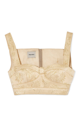 Medium peter som nude jacquard lame bralette