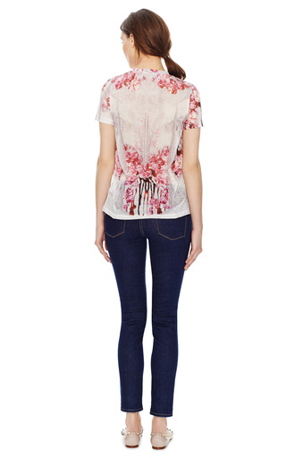 Short Sleeve Crew Neck T Shirt by PRABAL GURUNG Now Available on Moda Operandi