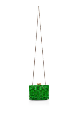 Lettuce Pic Nic Wicker Clutch by SERPUI MARIE Now Available on Moda Operandi