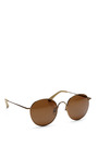 Round Bronze Sunglasses by THE ROW Now Available on Moda Operandi