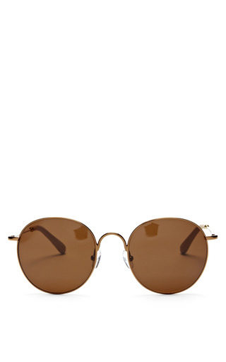 Medium the row bronze round bronze sunglasses