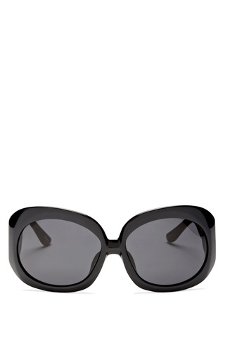 Medium the row dark grey oversized black sunglasses