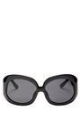 Oversized Black Sunglasses by THE ROW Now Available on Moda Operandi