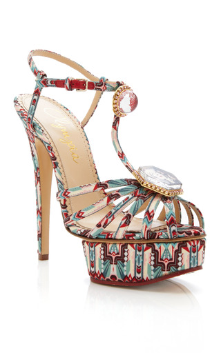 Medium charlotte olympia print multi deco leading lady sandal