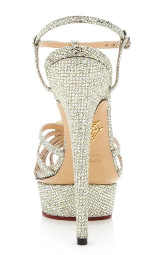 Platinum Leading Lady Sandal by CHARLOTTE OLYMPIA for Preorder on Moda Operandi