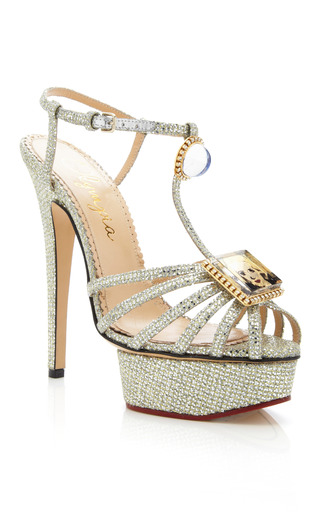 Medium charlotte olympia platinum leading lady sandal