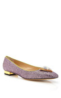 Hollywood Pink Starlet Flat by CHARLOTTE OLYMPIA for Preorder on Moda Operandi