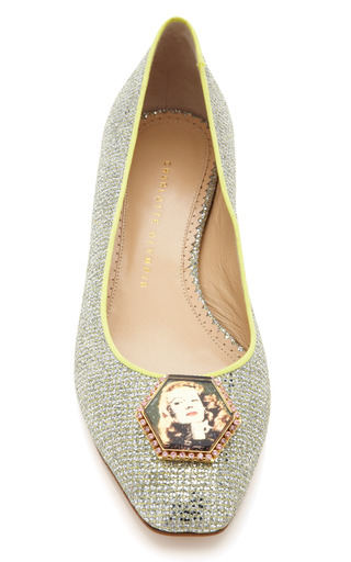 Platinum Starlet Flat by CHARLOTTE OLYMPIA for Preorder on Moda Operandi