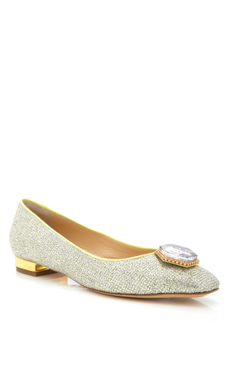 Platinum Starlet Flat by CHARLOTTE OLYMPIA for Preorder on Moda Operandi