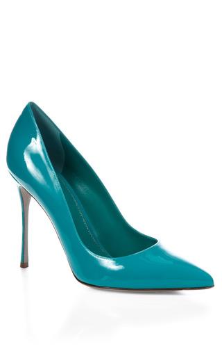 Medium sergio rossi turquoise godiva heel