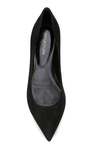 Godiva Pointed Toe Suede Flats by SERGIO ROSSI Now Available on Moda Operandi