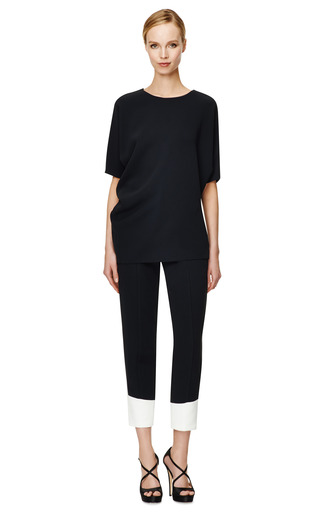 Black Nylon Crepe Sable Blouse by NARCISO RODRIGUEZ Now Available on Moda Operandi