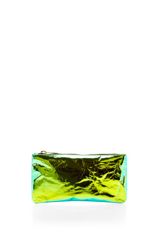 Medium zilla green glossy film purse 2
