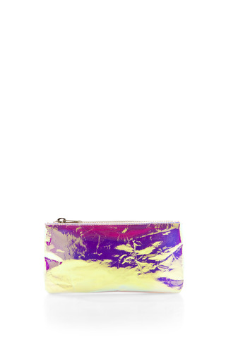 Medium zilla pink glossy film purse 4