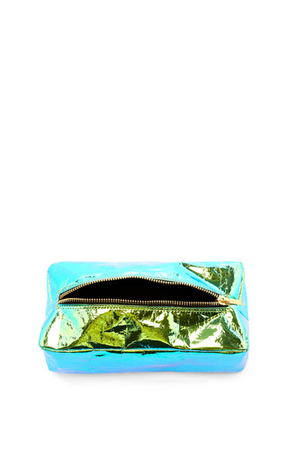 Large Glossy Film Cosmetic Pouch by ZILLA Now Available on Moda Operandi