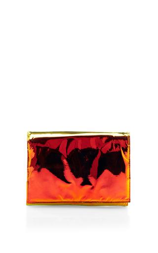 Medium zilla orange glossy film clutch