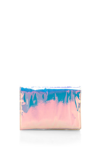 Medium zilla blue glossy film clutch 2