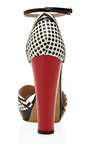 Black, White And Red Cosmopolitan Sandal by AQUAZZURA Now Available on Moda Operandi