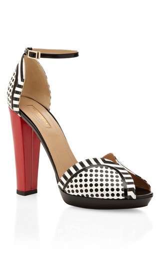 Medium aquazzura red black white and red cosmopolitan sandal 2