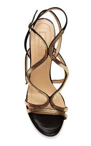 Martini Gold Sandal by AQUAZZURA Now Available on Moda Operandi