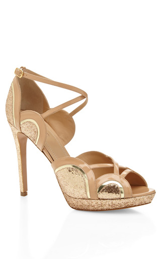 Tequila Sunrise Metallic And Patent Leather And Sandals by AQUAZZURA Now Available on Moda Operandi