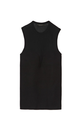 Wool Blend Bodice Detail Knit Top by CALVIN KLEIN COLLECTION Now Available on Moda Operandi