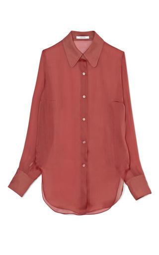 Medium carven red silk organza shirt