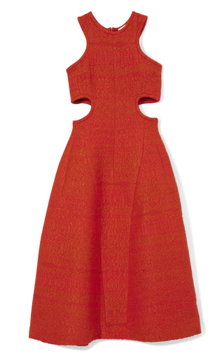 Medium carven raffia tweed cutout dress in poppy 2