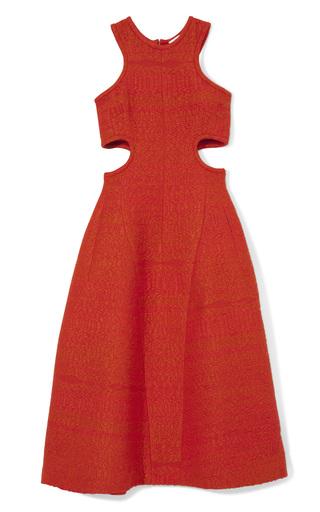 Raffia Tweed Cutout Dress In Poppy by CARVEN Now Available on Moda Operandi