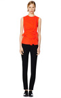 Orange Front Gathered Top by CéDRIC CHARLIER Now Available on Moda Operandi