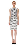 Ivory Brocade Dress by GIAMBATTISTA VALLI Now Available on Moda Operandi