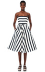 Strapless Dress With Full Skirt by OSCAR DE LA RENTA Now Available on Moda Operandi