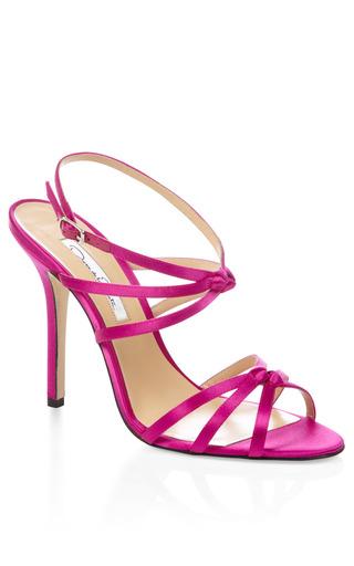 Medium oscar de la renta pink pink hudson strappy heel