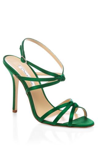 Medium oscar de la renta green green hudson strappy heel