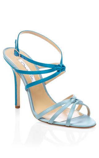 Blue Hudosn Strappy Heel by OSCAR DE LA RENTA Now Available on Moda Operandi