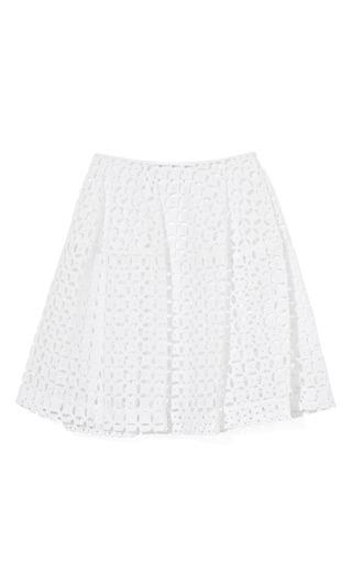 Medium simone rocha white white open dot skirt