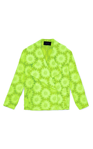 Medium simone rocha green green big daisy jacket