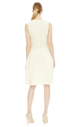 Gold Checked Sleeveless Dress by SIMONE ROCHA Now Available on Moda Operandi