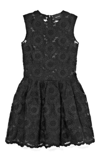 Medium simone rocha black black big daisy dress
