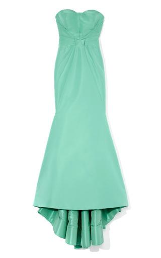 Medium zac posen green celadon green silk gown